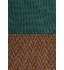 Calcetines de espiga largos en verde oscuro y calabaza