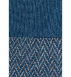 Calcetines de espiga largos en azul y gris