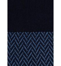 Calcetines de espiga largos en azul marino y azul raf