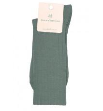 Calcetín Hilo de Escocia verde oliva mujer