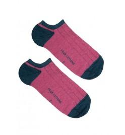 Calcetines tobilleros viola y flamingo