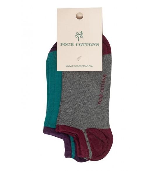 Pack de calcetines tobilleros bicolor