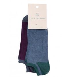 Pack de calcetines tobilleros Mirtillo  y Oceano