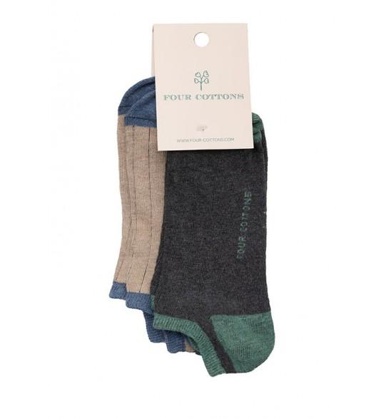Pack de calcetines tobilleros Corda y Antracite