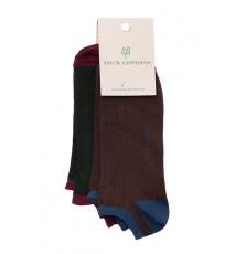 Pack de calcetines tobilleros Verde Oscuro y Chocolate