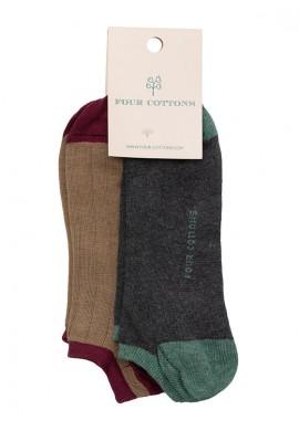 Pack de calcetines tobilleros Camel y Antracite