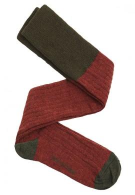 calza lana caldero y verde oscuro