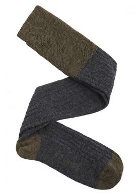 calza lana gris verde