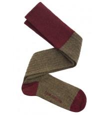 calza lana tostado vino