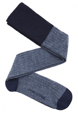 calza lana azul marino