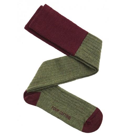 calza lana verde vino