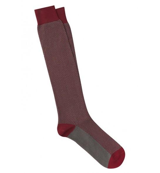 Calcetines de espiga largos en Calcetines de espiga largos en rojo y verde