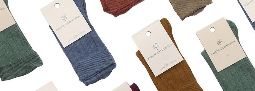 Calcetines para hombre de caña corta de algodón