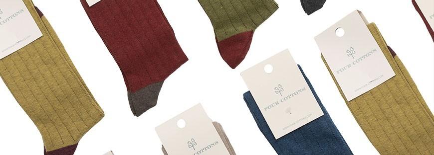 Calcetines de algodón peinado para mujer de Caña Alta