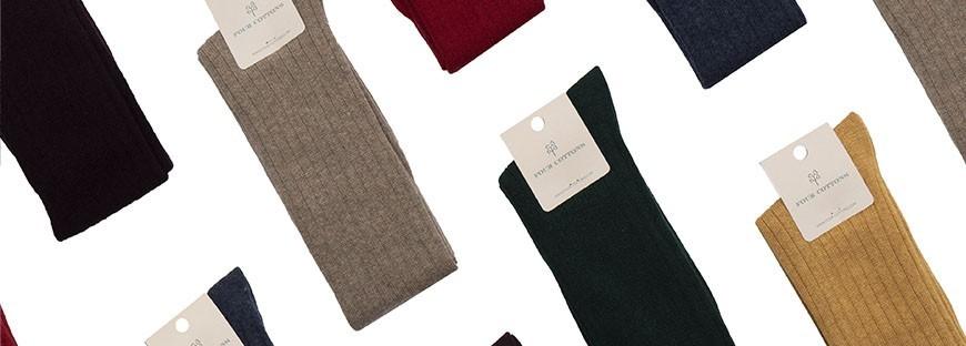 Calcetines de caña alta de lana y cashmere en varios colores