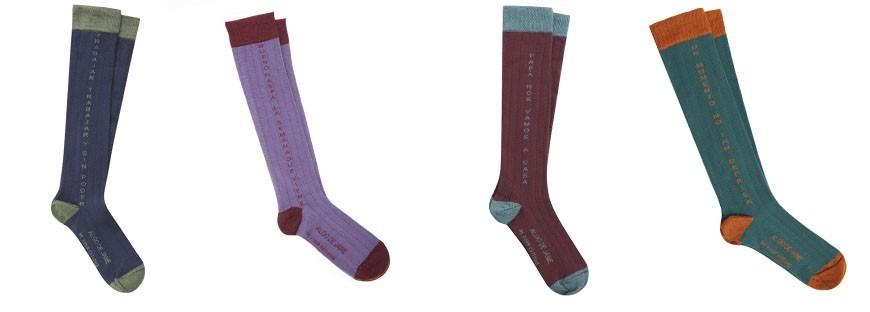Calcetines diseñados por de Algo de Jaime para Four Cottons de caña alta